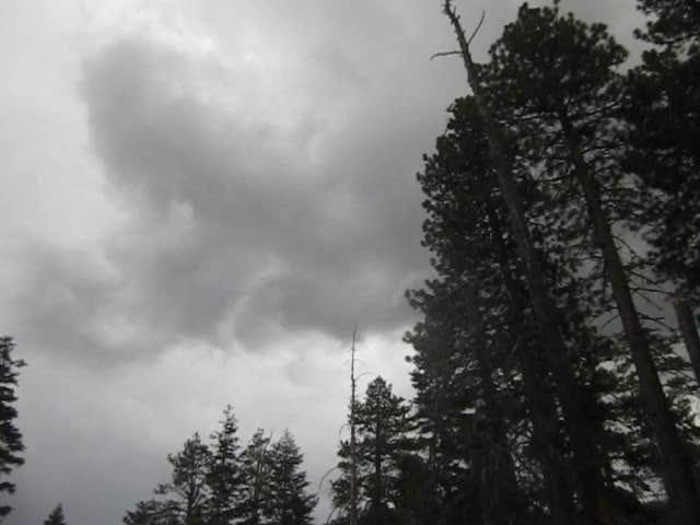 326 Video of Dark clouds and the sound of thunder on the South Fork Trail
