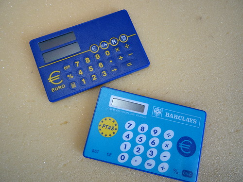 Calculadoras de pesetas a euros