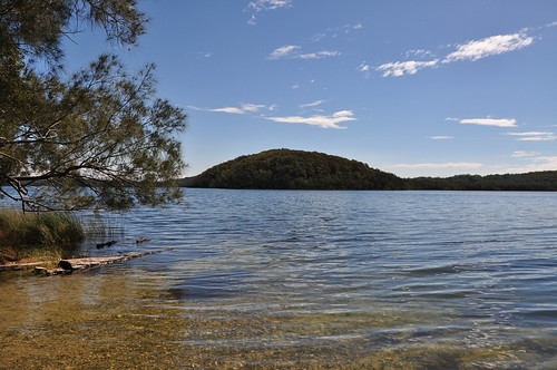 Clear water in the Myall Lakes