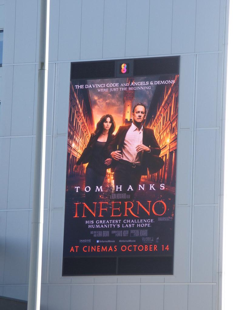 Park Regis Birmingham - digital billboard - Tom Hanks - Inferno