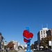 Little Heart Man standing tall at Dupont Circle by Lorie Shaull