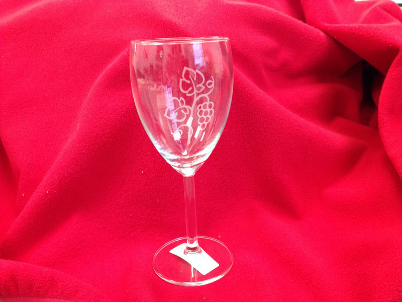 laser cut wine glass