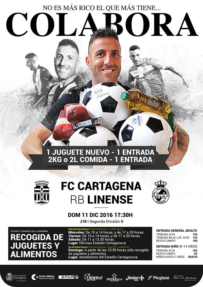 El FC Cartagena colabora con las campañas de recogida de juguetes y alimentos