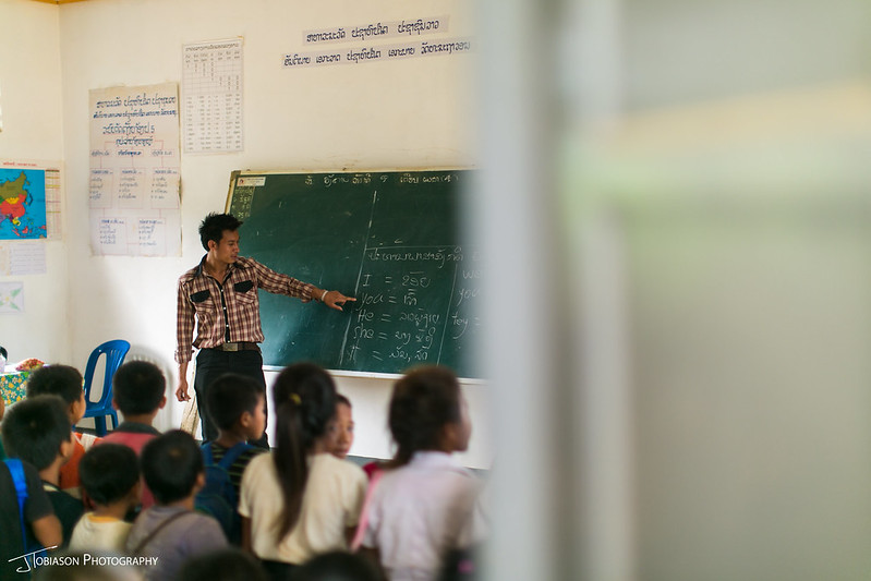 Pencils of Promise teaching Laos