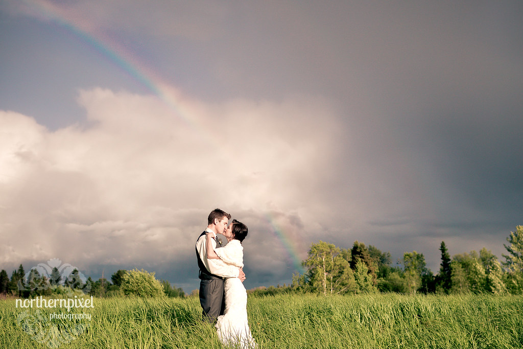 Wedding under the Rainbow - Prince George British Columbia Elopement Proposal