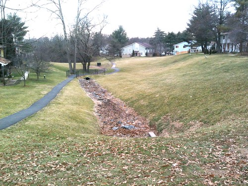Germantown park stormwater management and stream for Stormwater pond design