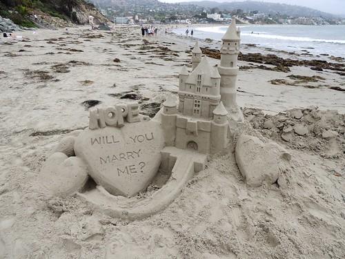 Laguna Beach Marry Me Sand Castle