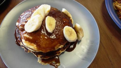 pancakes with gula melaka