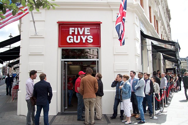 Five Guys opens in London