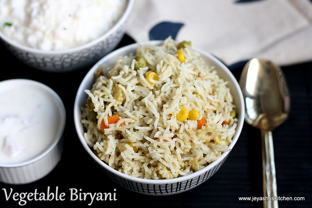 Vegetable biryani - no onion no garlic1