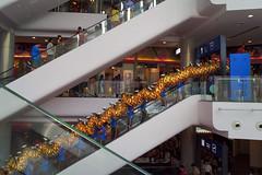 Dragon on an escalator