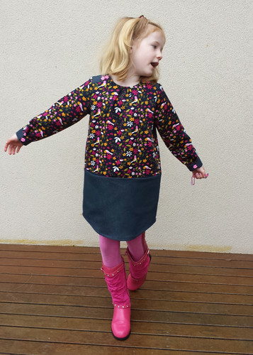 Oliver + S Book Report Dress for Stella - size 5