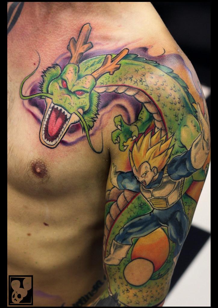 Dragon Ball z Sleeve Tattoos Dragon Ball z Sleeve