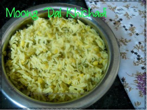 recipe of making moong dal khichadi without pressure cooker