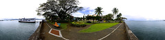 Waterfront at the harbor and Tiko's floating restaurant - 360 Panorama Virtual Reality (click links in the description for full immersion)