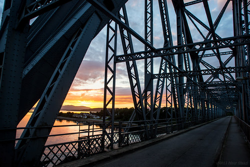 bridge sunset sea scotland steel structure oru connel 2013 ardmucknishbay
