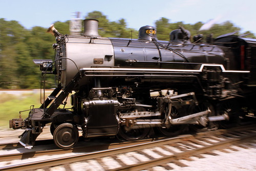 Steam Train Panning - Southern #630 at TVRM Railfest 2013