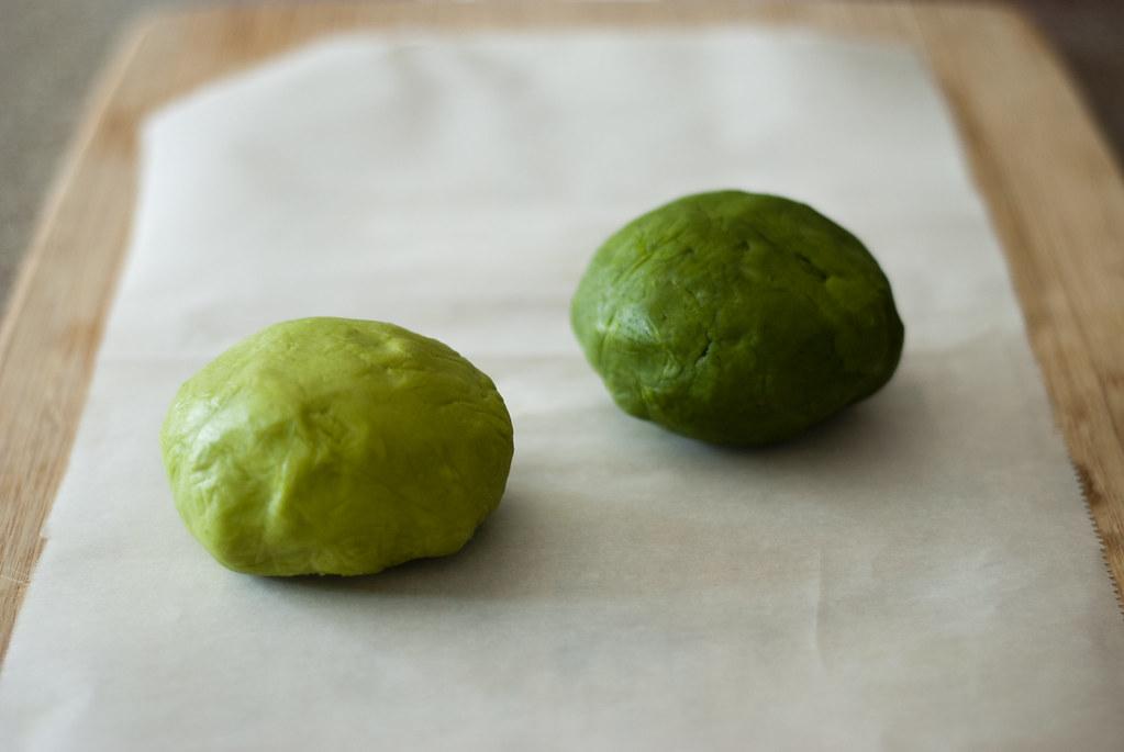 Matcha dough balls