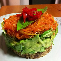tostada(0.0), salad(0.0), fried food(0.0), veggie burger(0.0), produce(0.0), meal(1.0), breakfast(1.0), vegetable(1.0), vegetarian food(1.0), food(1.0), dish(1.0), guacamole(1.0), cuisine(1.0),