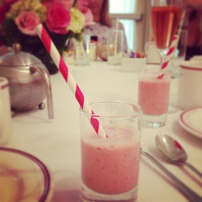Strawberry milkshake, Eastern Standard