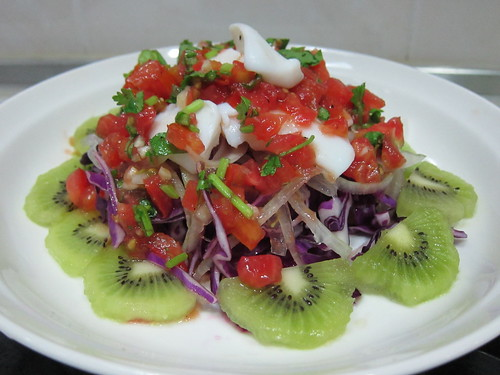 莎莎醬海鮮水果沙拉