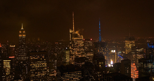 NY night skyline