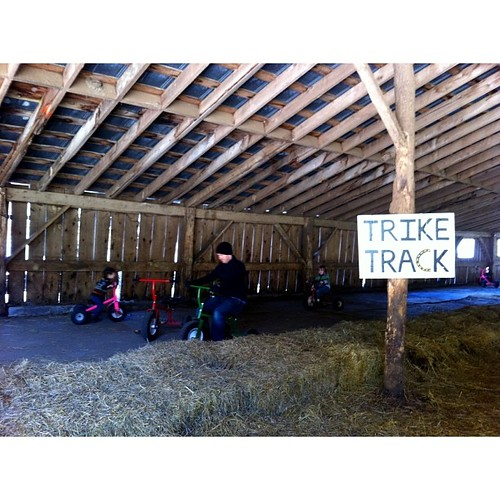 Every barn needs a trike track.