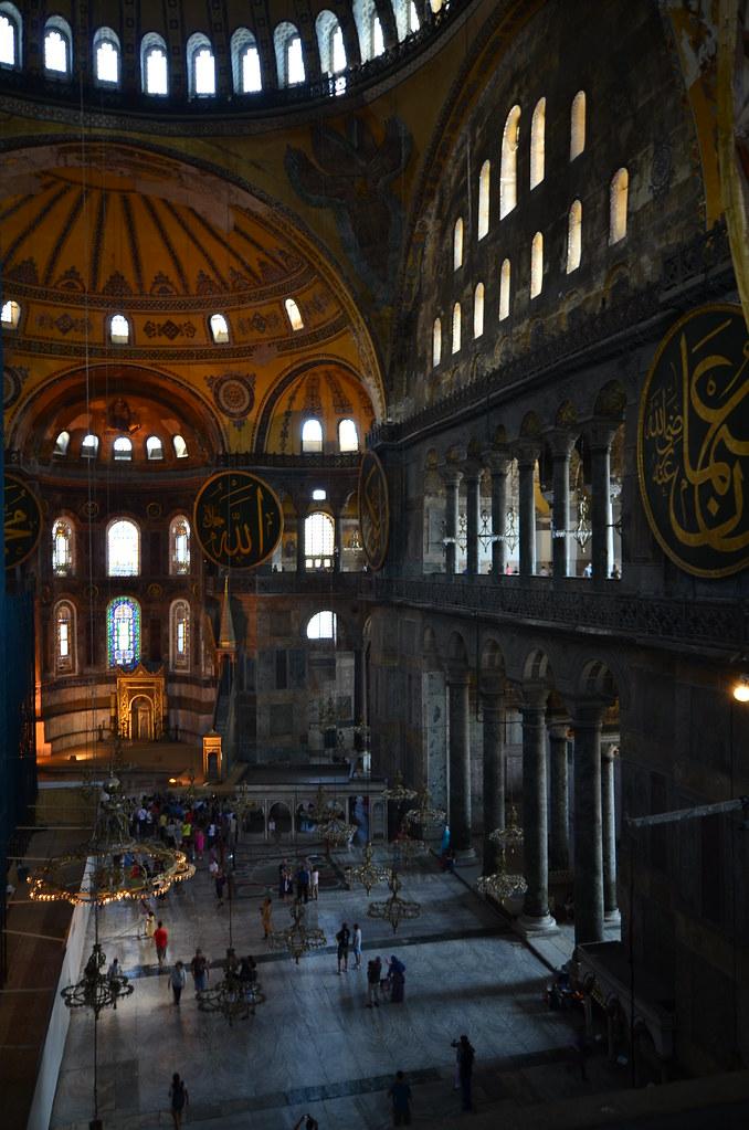 Interior de la mezquita de Santa Sophia