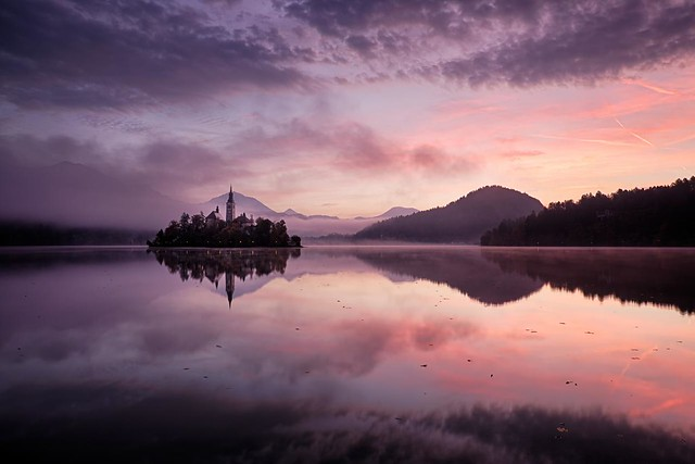 Lake Bled sunrise - Slovenia