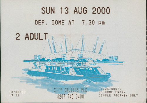 City Cruise to Millenium Dome, 13 August 2000