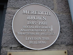 Photo of Meredith Brown yellow plaque