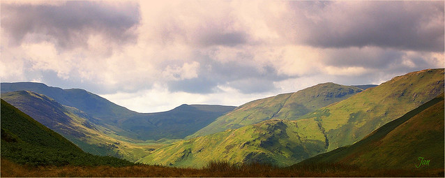 The green, green fells of Cumbria