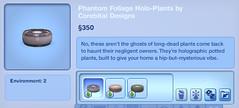 Phantom Foliage Holo-Plants by Corebital Designs