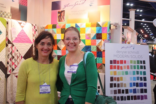 Denyse Schmidt and me at her booth
