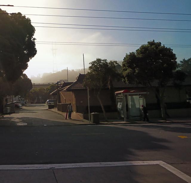 McDonalds at Haight and Stanyan, morning; The Haight, San Francisco (2013)