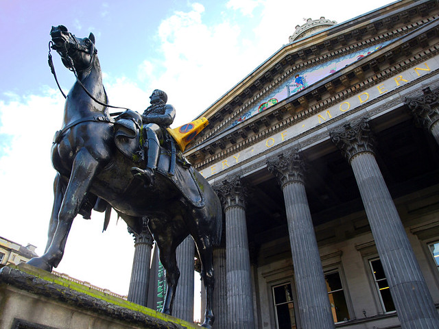 Duke of Wellington Statue and cone, Glasgow