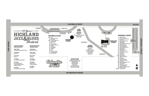 Highland Jazz & Blues Fest site map, 2013 by trudeau