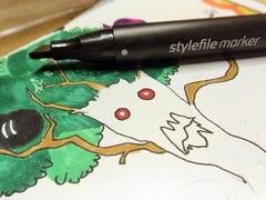 Zeichnen mit Stylefile Marker