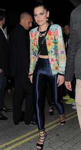 Jessie J Floral Bomber Jacket Celebrity Style Women's Fashion