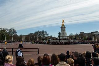 Foule pour la cérémonie de la relève de la Garde à Buckingham Palace