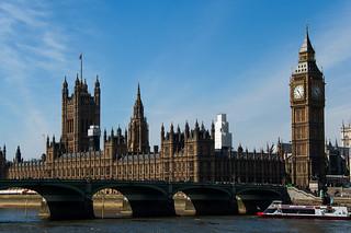 Vue sur le Pont de Westminster, le Palais de Westminster et Big Ben
