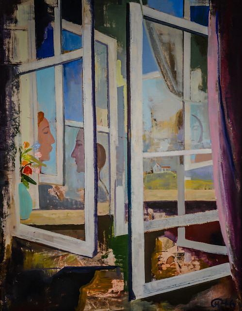 karl hofer die fenster the window 1946 at staatliche. Black Bedroom Furniture Sets. Home Design Ideas