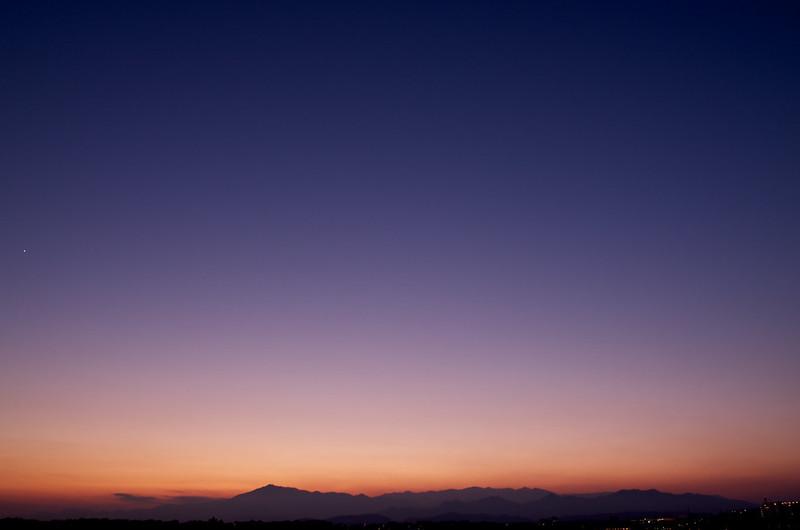 12月の黄昏