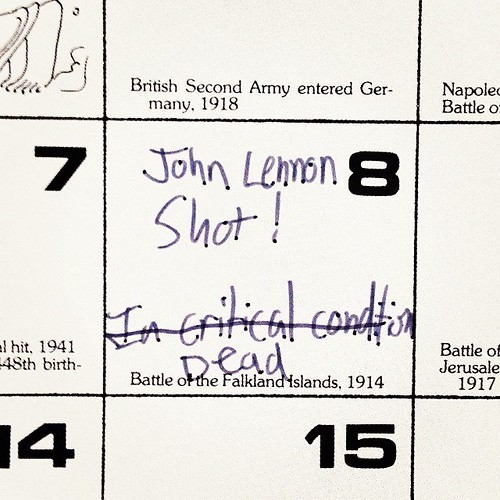 John Lennon play-by-play reporting, from my 1980 calendar. #todayinhistory