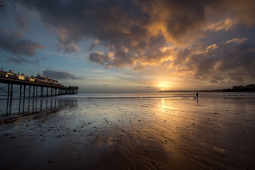 sea clouds sunrise reflections pier day cloudy devon paignton canon1740f4l canon5dmk3