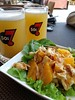 citrus chicken salad & brewed #beers to start the #Sunday #brunch — with Hitesh