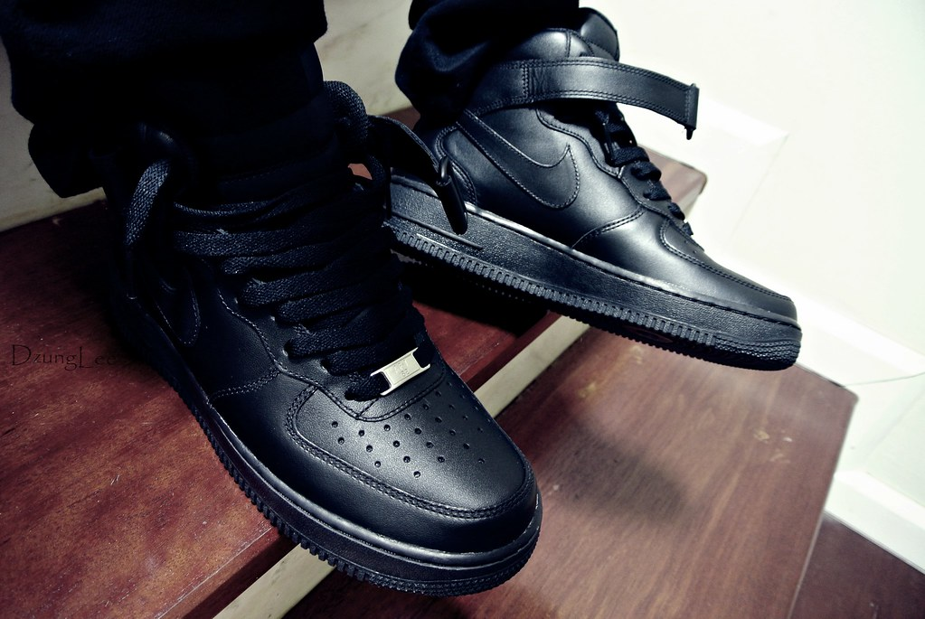 air force 1 mid black