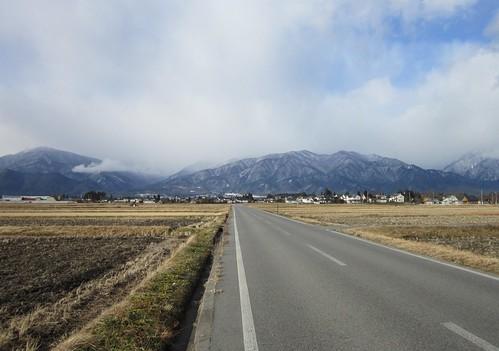 安曇野市から見る北アルプス 2013年12月14日9:19 by Poran111