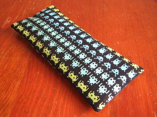 Space Invaders eye pillow