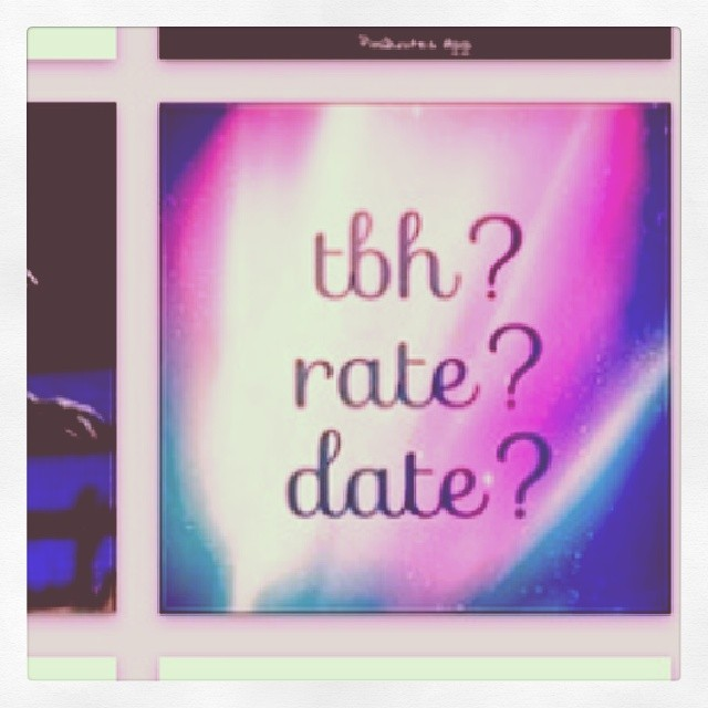Rate date tbh
